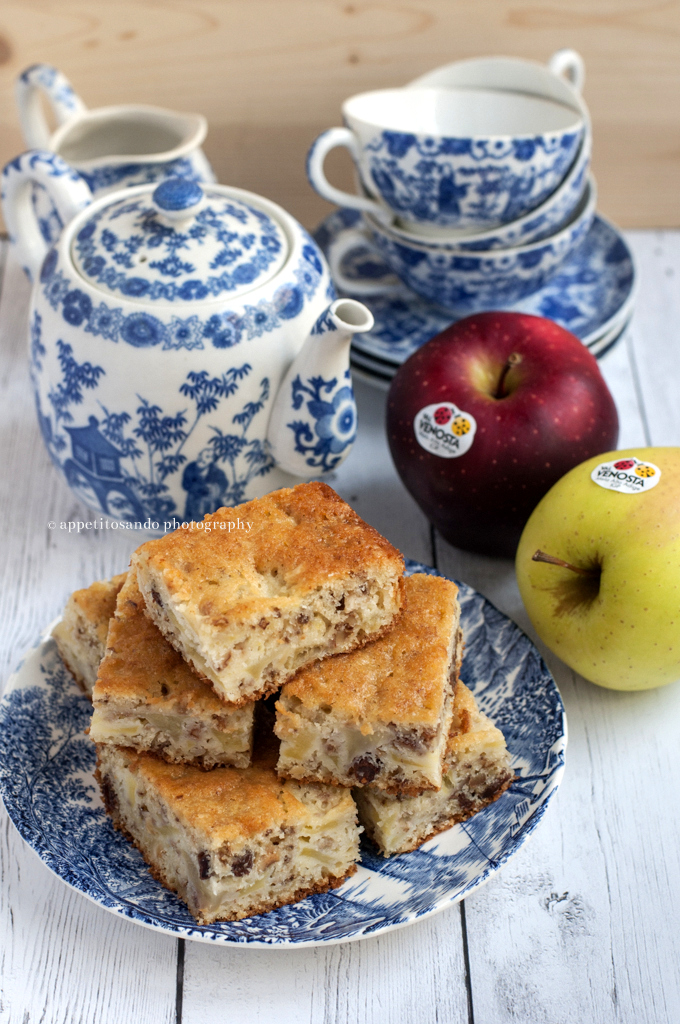 dolce di mele, noci e uvetta