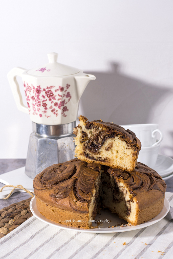 torta variegata alla nutella